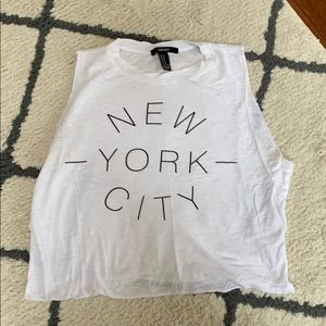 New York City cropped muscle tee